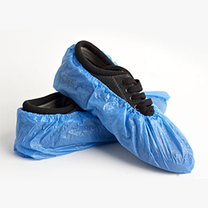 disposable plastic shoe coverings