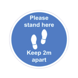 Covid-19 keep 2m apart floor sign