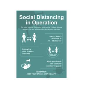 Covid-19 Social Distancing Signs