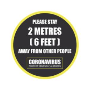 Please Stay 6 Feet Away Floor Sign